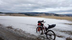 bikepacking, góry orlickie, rower