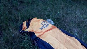 bivi bag, płachta namiotowa, bikepacking