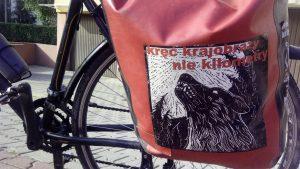 obklejanie sakw rowerowych